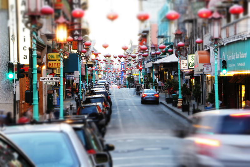Chinatown San Francisco stock images