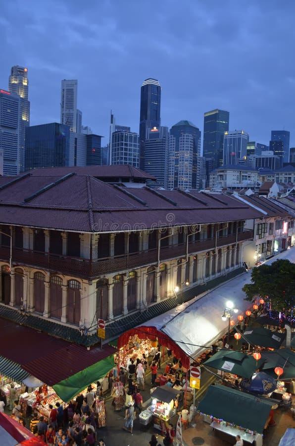 chinatown Singapore obrazy stock