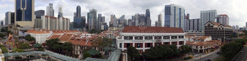 Chinatown in Singapore - 180 panorama royalty free stock photo