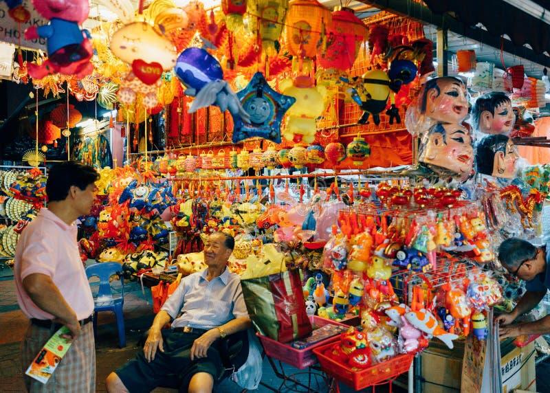 Chinatown, Singapur, celebra el festival del Mooncake (el mediados de otoño) imágenes de archivo libres de regalías