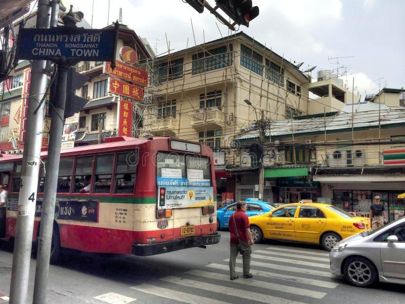 Chinatown-Straße in Dubai lizenzfreie stockfotografie