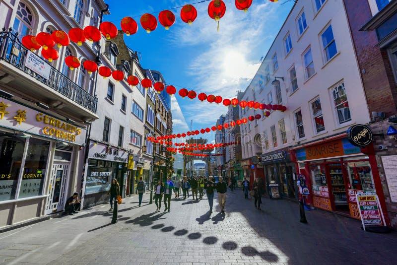 Chinatown-Straßenansicht stockfoto