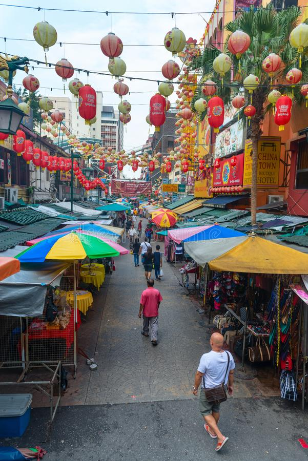 Download Chinatown Street Market In Kuala Lumpur, Malaysia Editorial Image - Image of business, food: 108136550