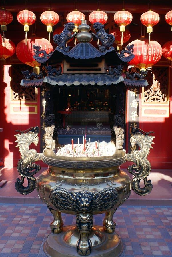 chinatown tempel royaltyfria foton