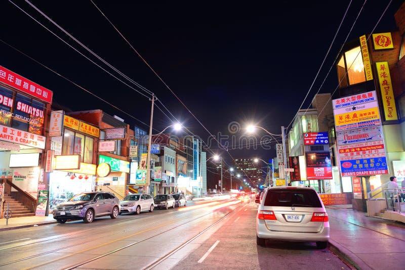 Chinatown Toronto stock photo