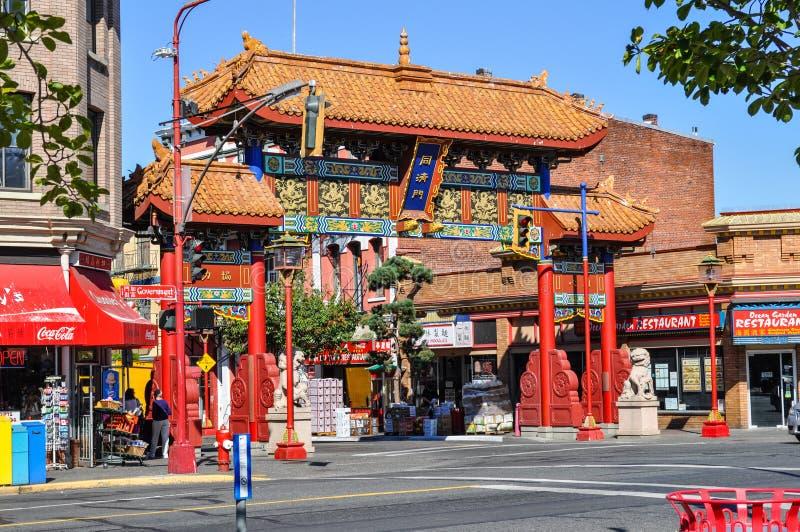 chinatown victoria стоковая фотография rf