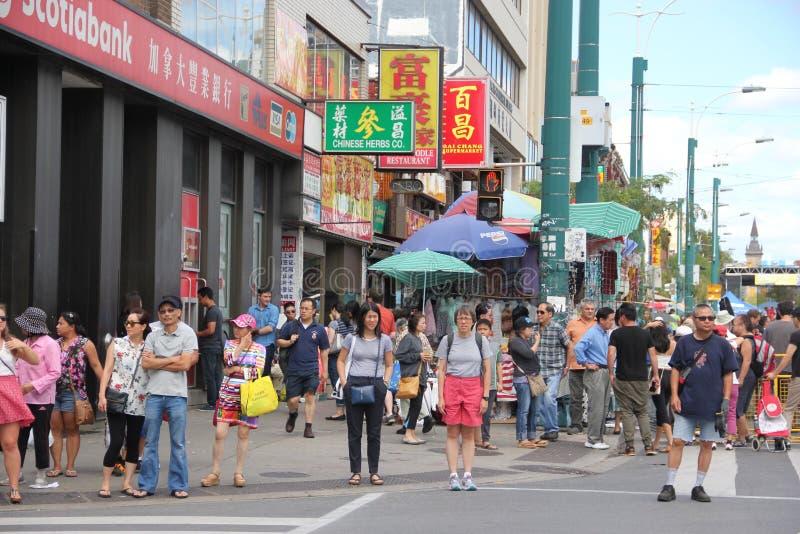 Chinatown w Toronto, Kanada fotografia royalty free