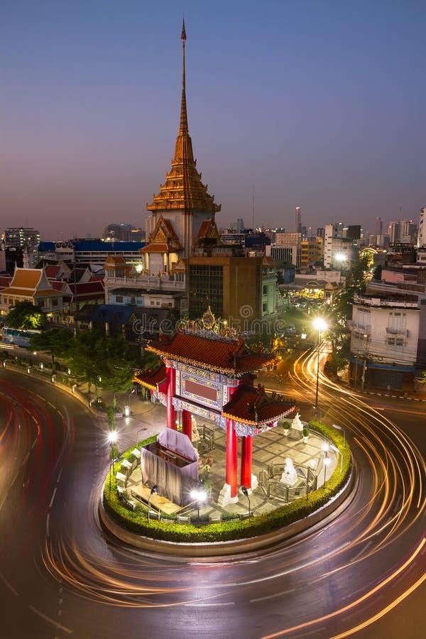 Chinatownpoort in Bangkok stock fotografie