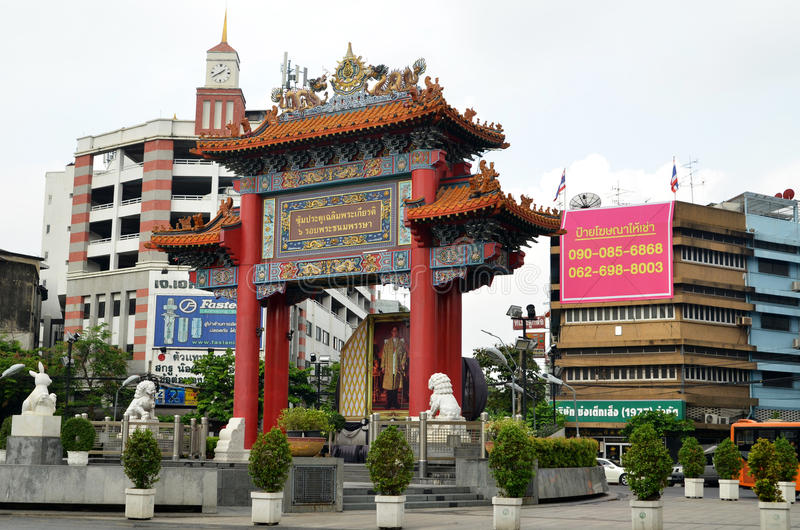 Chinatownpoort Yoawarach in Bangkok royalty-vrije stock fotografie
