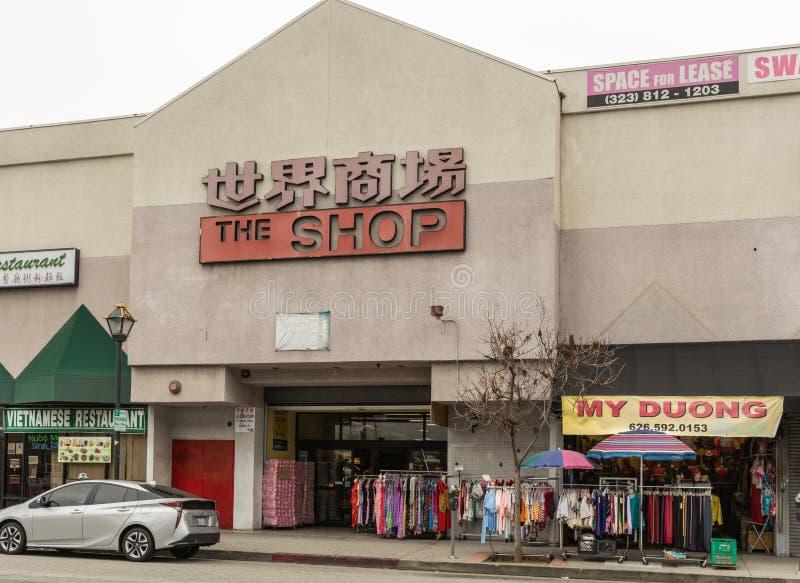 Chinatownwinkelcomplex, Los Angeles Californië royalty-vrije stock foto's