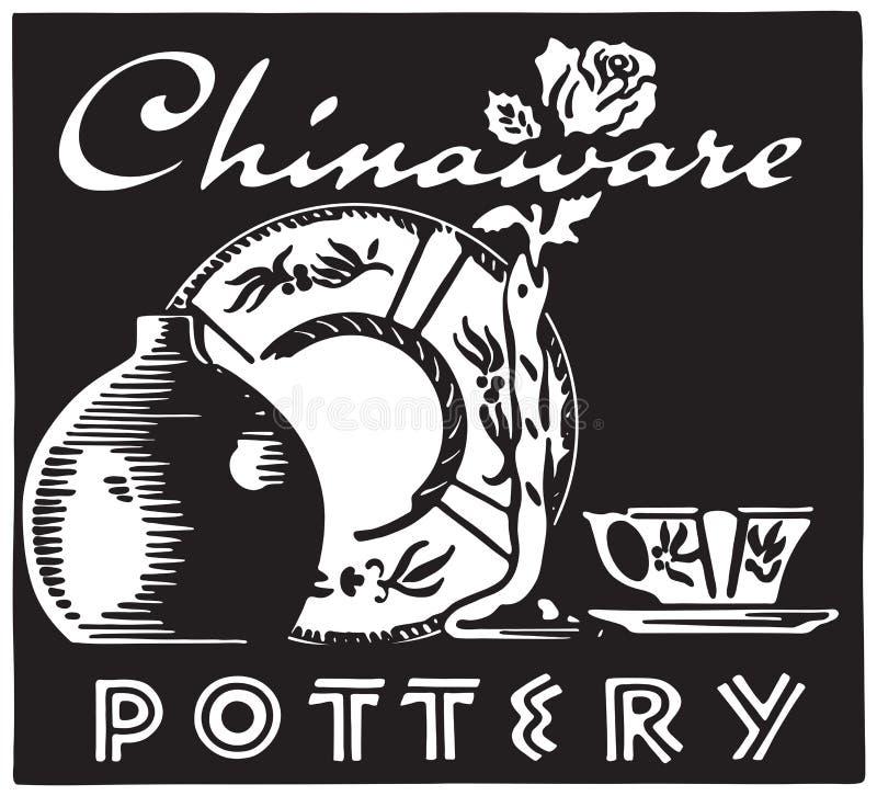 chinaware royalty ilustracja