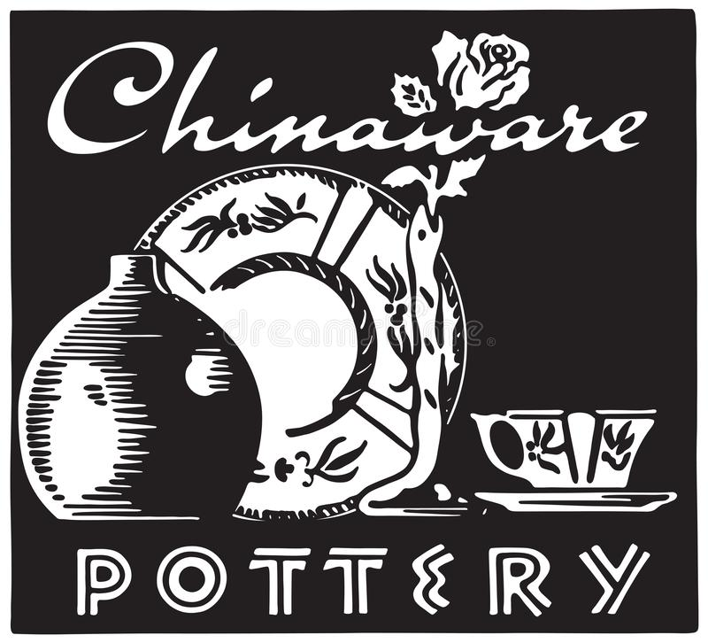 chinaware royalty-vrije illustratie