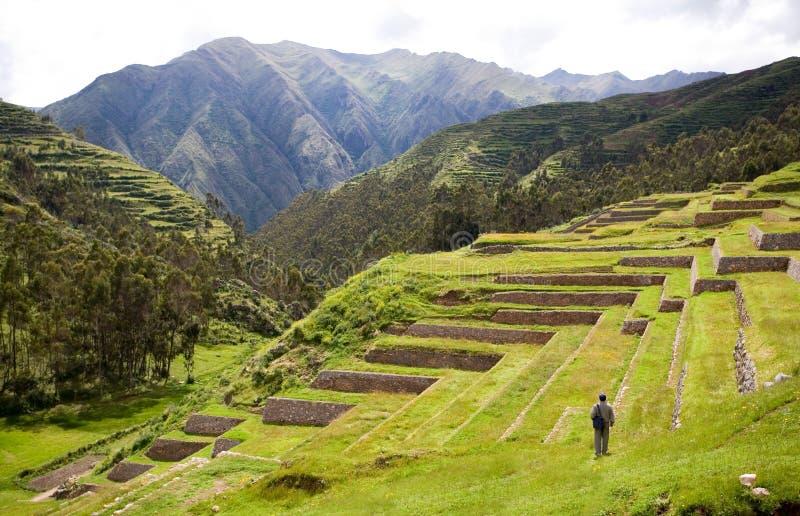 Chinchero, Incan Ruins, Peru royalty free stock image