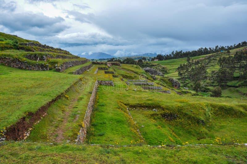 Chinchero Incas ruiny, Peru fotografia royalty free