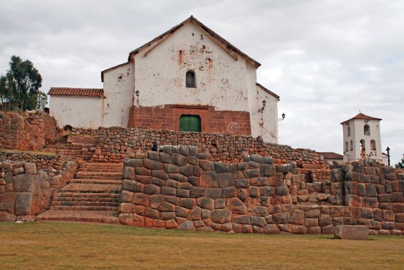 Chinchero kyrka arkivbild