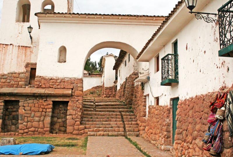 Chinchero stad royaltyfria bilder