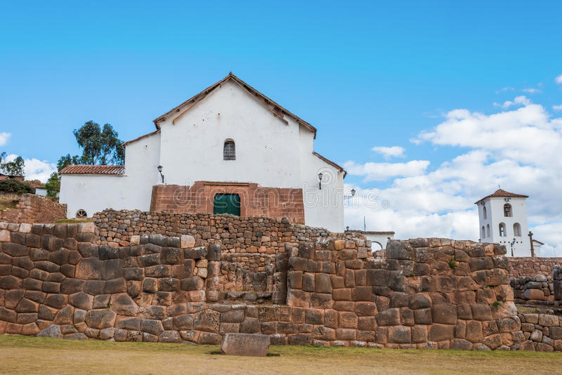 Chincheros stadperuan Anderna Cuzco Peru royaltyfri bild