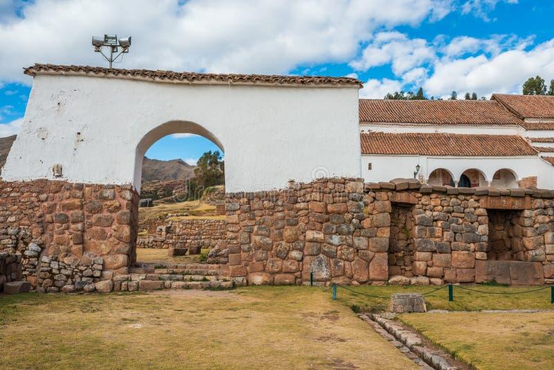 Chincheros stadperuan Anderna Cuzco Peru arkivfoto