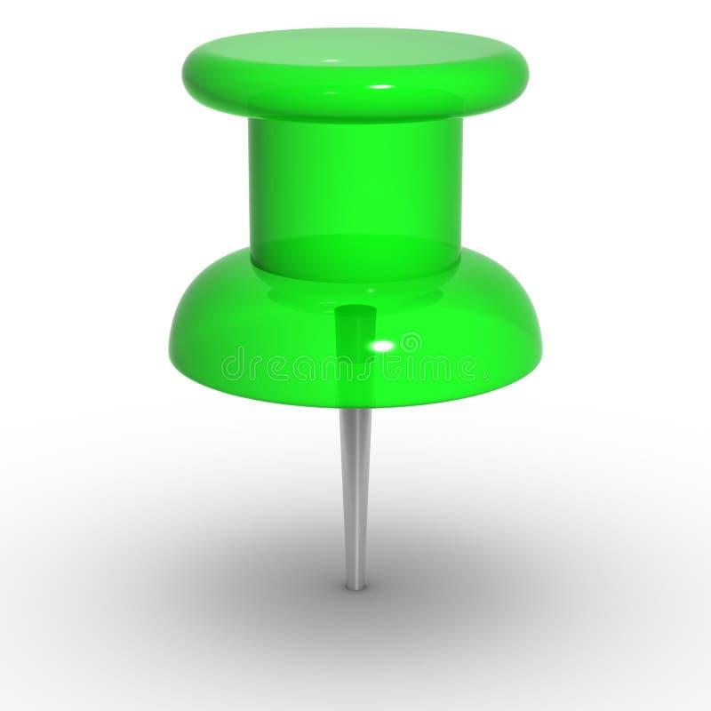 Chincheta verde fotografía de archivo libre de regalías