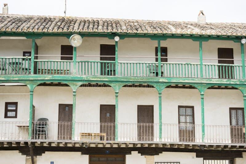 Chinchon, Spaanse gemeente beroemd voor zijn oude middeleeuwse squar royalty-vrije stock foto's