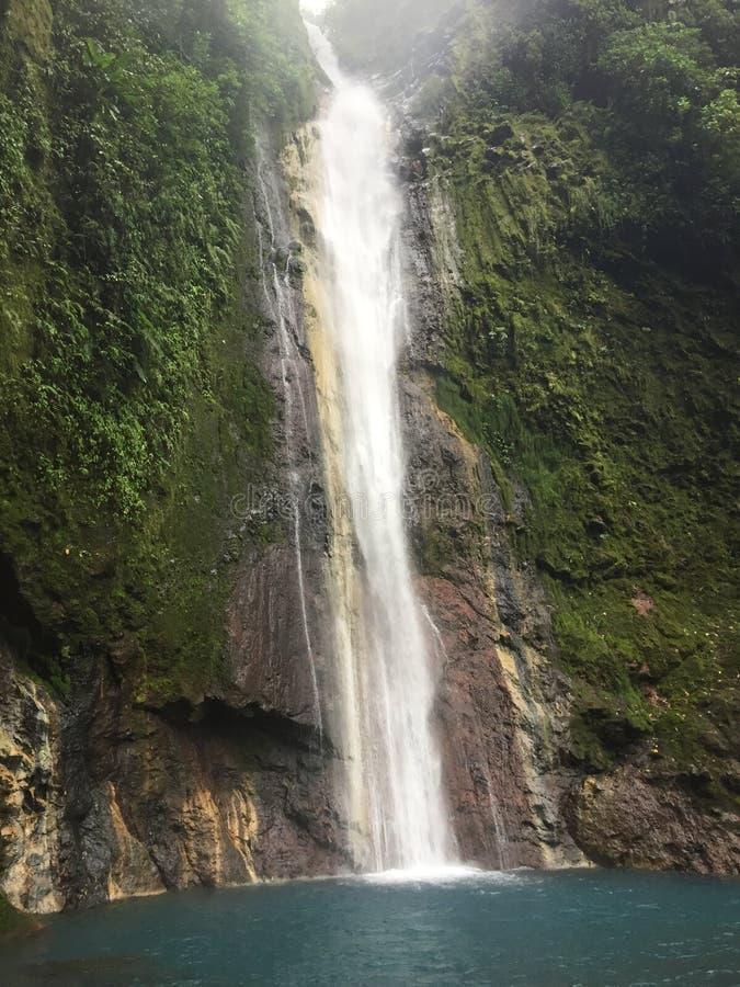 The Chindama Waterfall, located in Limon, Costa Rica. La catarata Chindama. stock image
