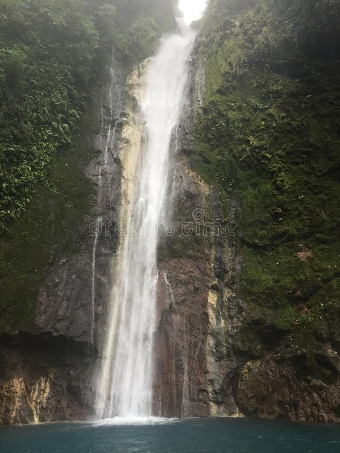 The Chindama Waterfall, located in Limon, Costa Rica royalty free stock image