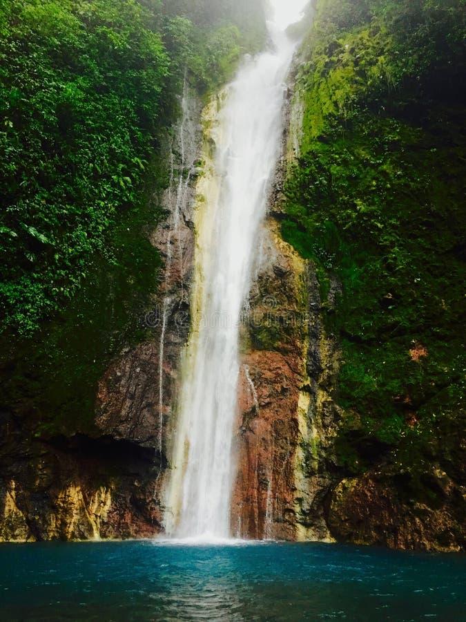 The Chindama Waterfall, located in Limon, Costa Rica. La catarata Chindama. stock images