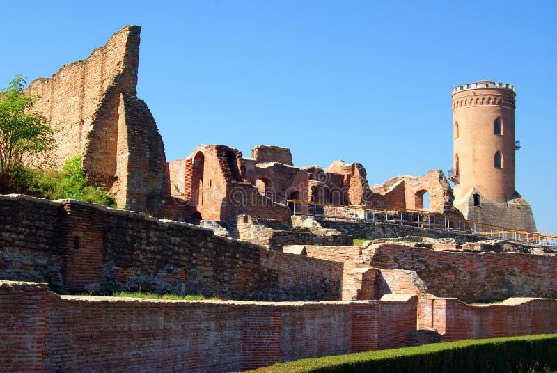 chindia城堡点燃影子 免版税图库摄影