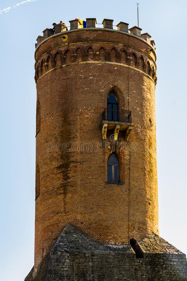 Chindia Tower in Targoviste, Romania.  stock image