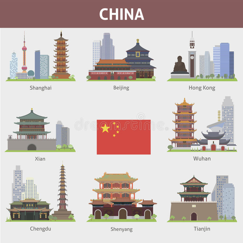 Chine illustration stock