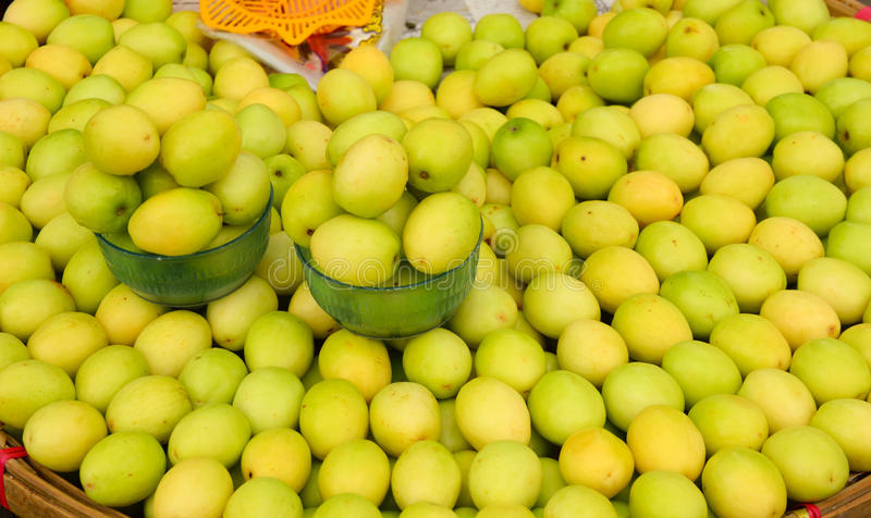 Chinee apple at market. Ziziphus mauritiana also known as Jujube is a tropical fruit in Asia royalty free stock images