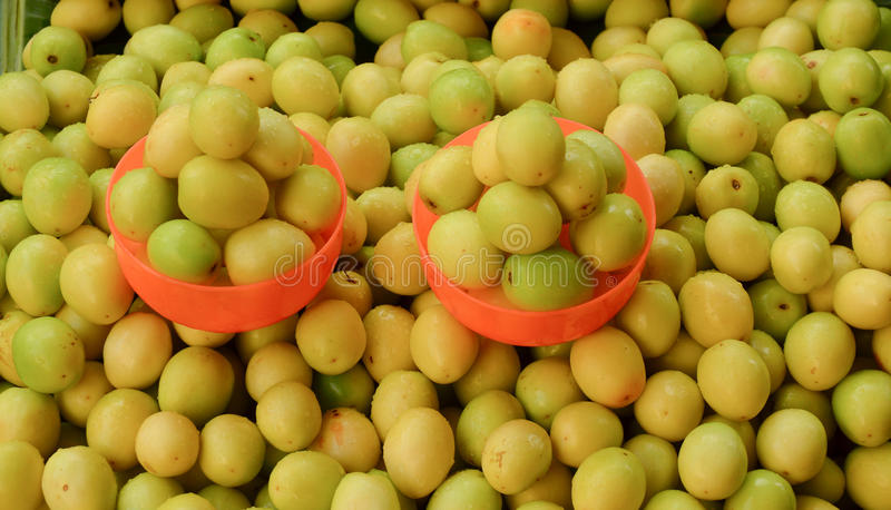 Chinee apple at market. Ziziphus mauritiana also known as Jujube is a tropical fruit in Asia stock photos