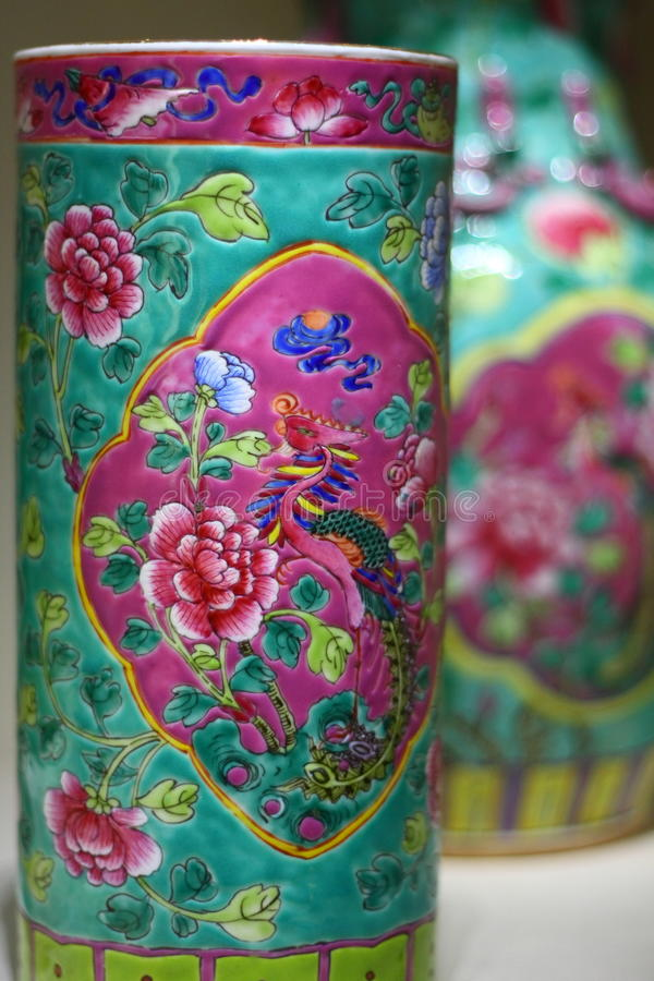 Chinees Antiek Porselein stock afbeeldingen