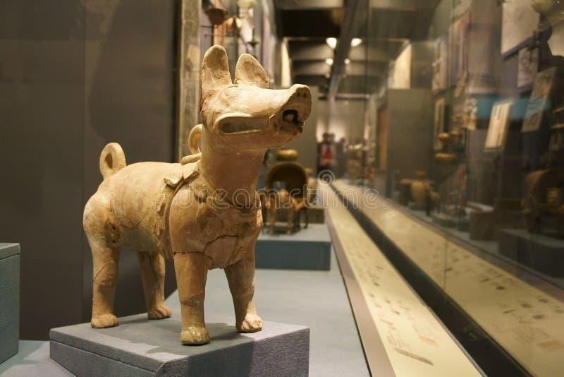 Chinees Azië, Peking, het hoofdmuseum, het oude kapitaal van historische en culturele tentoonstelling de van Peking, stock foto's