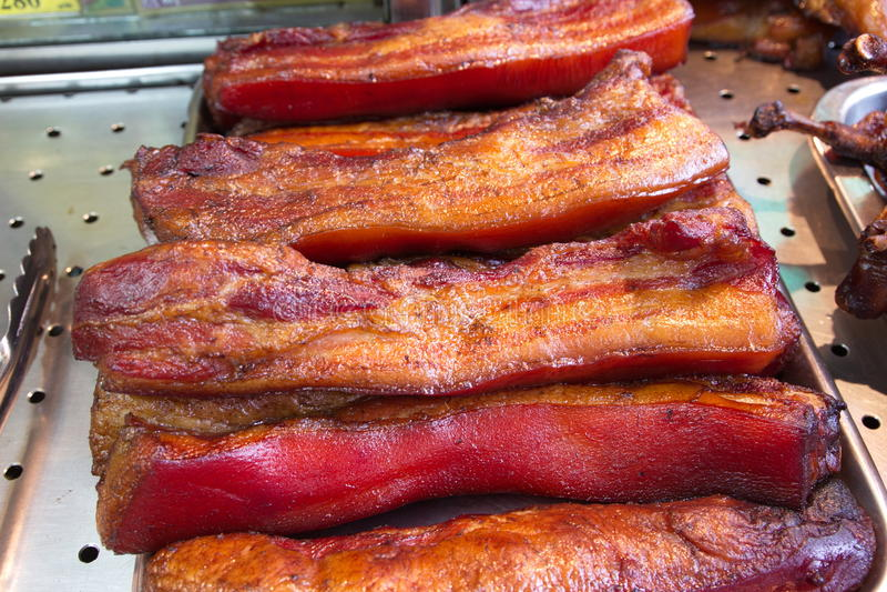 Chinees bacon royalty-vrije stock afbeeldingen