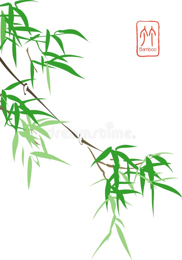 Chinees Bamboe stock illustratie