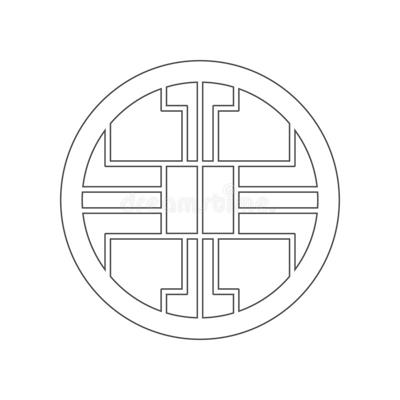 Chinees decorpictogram Element van China voor mobiel concept en webtoepassingenpictogram Overzicht, dun lijnpictogram voor websit stock illustratie