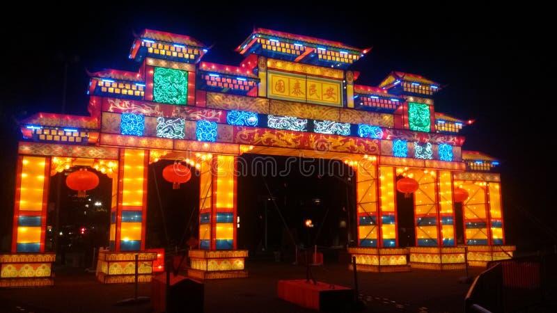 Chinees festival Spokane, de waterkant van Washington stock foto
