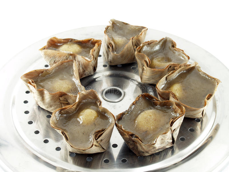 Chinees gebakje (Chinese taal genoemd nian gao) royalty-vrije stock foto