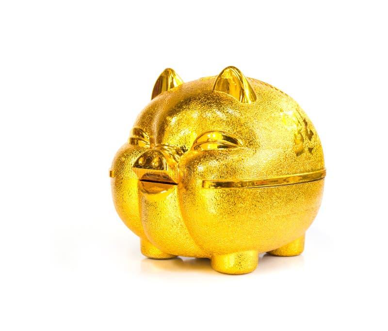 Chinees gouden Varkensspaarvarken royalty-vrije stock afbeelding