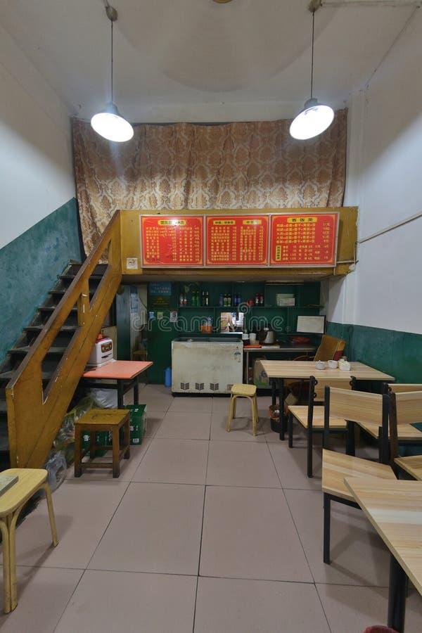 Chinees het restaurant binnenlands ontwerp van Shanghai stock fotografie