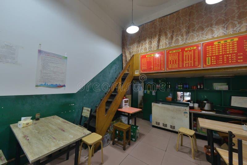 Chinees het restaurant binnenlands ontwerp van Shanghai royalty-vrije stock afbeelding