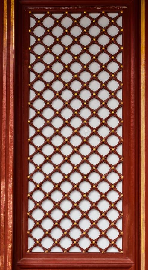 Chinees houten venster royalty-vrije stock afbeeldingen