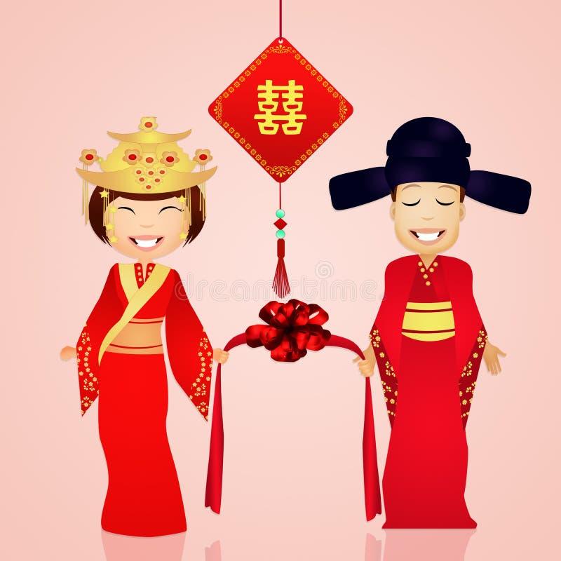 Download Chinees huwelijk stock illustratie. Illustratie bestaande uit illustratie - 54085574