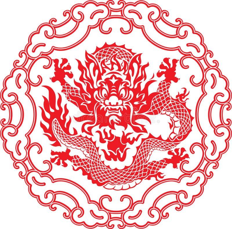 Chinees jaar van Draak royalty-vrije illustratie