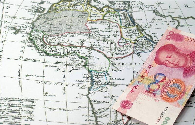 Chinees kapitaal in Afrika royalty-vrije stock foto's