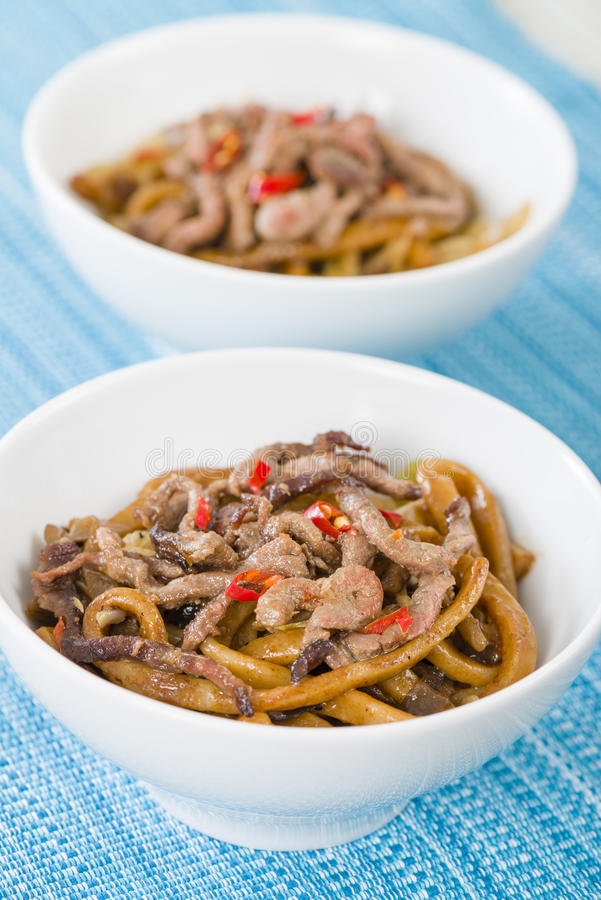 Chinees Kruidig Rundvlees en Zwart Bean Sauce royalty-vrije stock foto