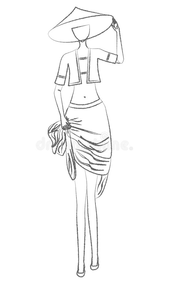Chinees meisje vector illustratie