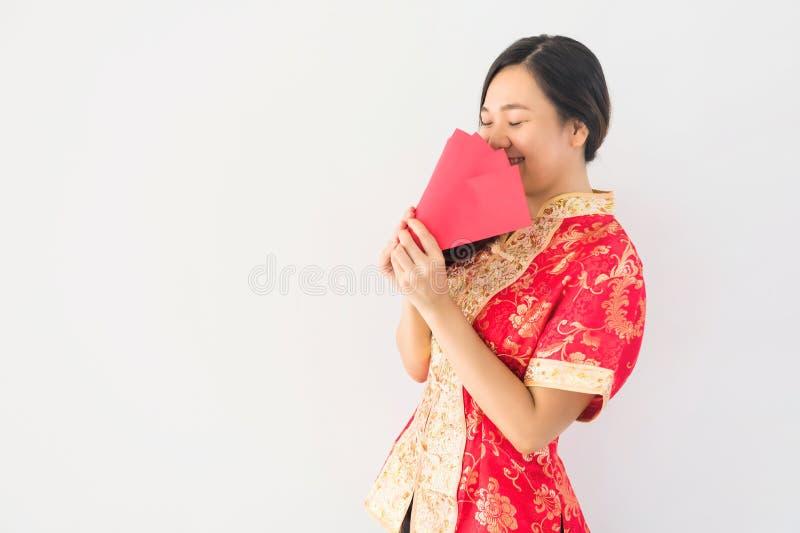 Chinees meisje met veel ANG-paogeld royalty-vrije stock foto's