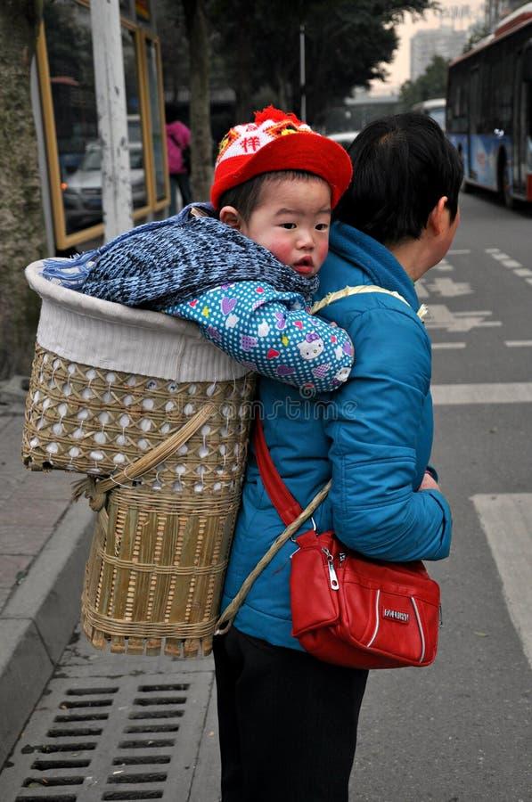 Chinees Moeder en Kind royalty-vrije stock afbeeldingen
